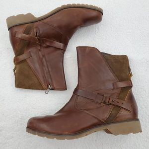 Teva Boots 9.5 De La Vina Low Brown Leather Ankle